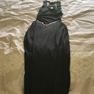 Black bcbg sexy maxi dress